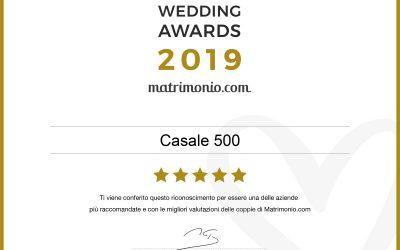 Matrimonio.com premio Wedding Awards 2019
