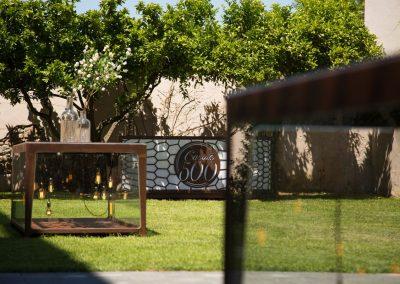 Giardini di ingresso al Casale 500
