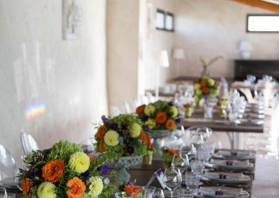 fiori apparecchiatura tavolo matrimonio Casale 500