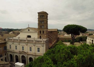 Basilica dei Santi Bonifacio e Alessio veduta aerea