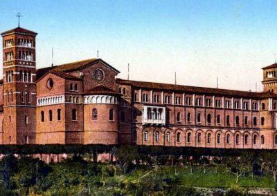 Esterno chiesa matrimonio Roma Sant Alselmo
