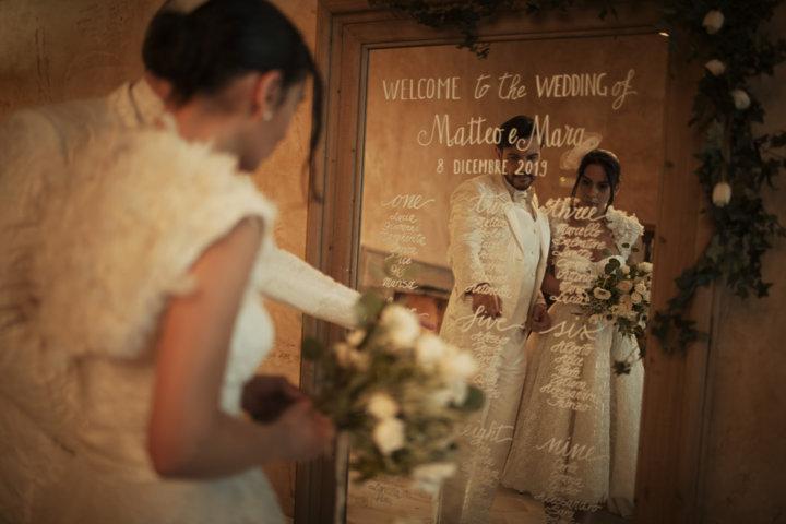Matrimonio con pioggia interni