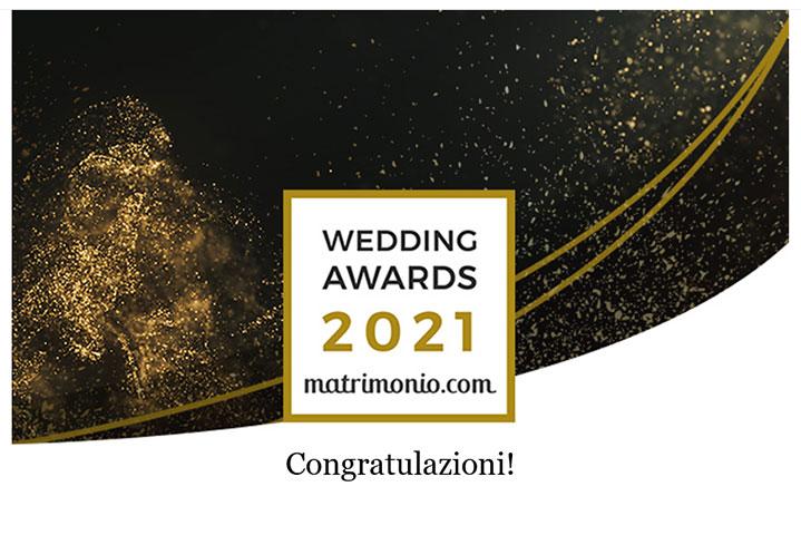 Matrimonio.com premio Wedding Awards 2021